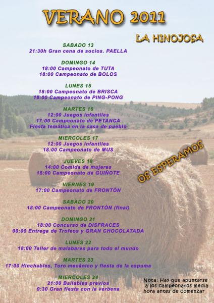 Cartel Fiestas Agosto 2011