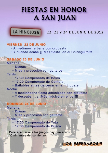 Cartel Fiestas de San Juan 2012