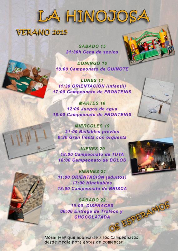 Fiestas La Hinojosa verano 2015