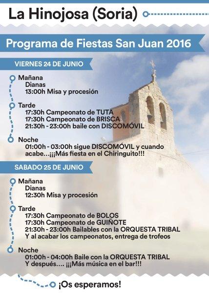 Cartel Fiestas de San Juan 2016