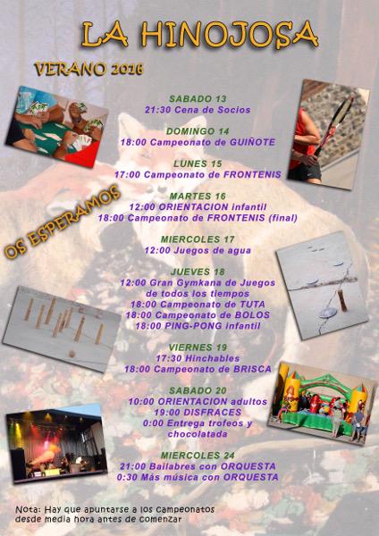 Cartel Fiestas Verano 2016
