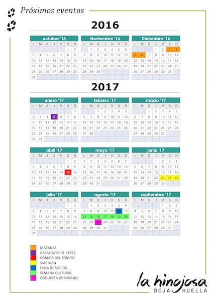 Eventos La Hinojosa 2016-2017