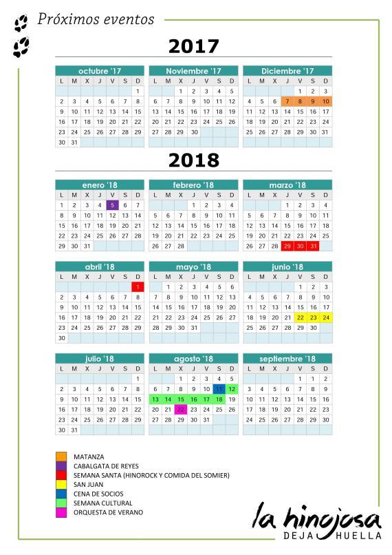 Proximos eventos 2017-2018